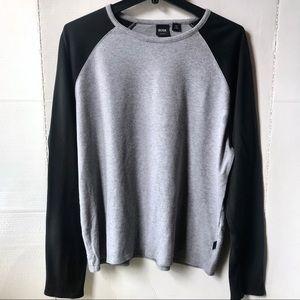 Hugo Boss Men's Gray Black Sleeves Cotton Shirt